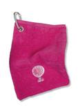 Bag Towel With Carabiner -Pink