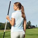 Daily Sports Zenia Cap Sleeve Polo Shirt - Blue Breeze