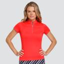 Tail Ladies Golf Fiorella Short Sleeve Polo - Paprika