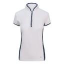 Pure Golf  Bliss Cap Sleeve Polo Shirt - Navy