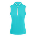 Pure Golf Bloom Ladies Sleeveless Polo Shirt - Ocean Blue