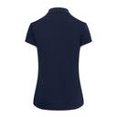 Pure Golf Bloom Ladies Cap Sleeve Polo Shirt - Navy