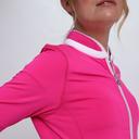 Pure Golf Ladies Mist Full Zip Mid Layer - Hot Pink