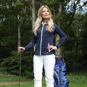Pure Golf Ladies Mist Full Zip Mid Layer - Navy