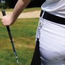 Lady Golfer Retractable Golf Towel - Purple
