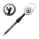 Lady Golfer Retractable Golf Pencil - Black