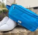 Lady Golfer Honeycomb Design Golf Shoe Bag- Aqua