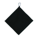 Golf Towel with Carabiner - Black