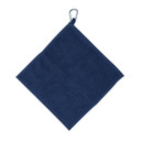 Golf Towel with Carabiner - Navy