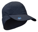 Ladies Golf Waterproof Fleece Lined Rain Cap with Crystal Umbrella Ball Marker - Navy