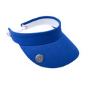 Ladies Golf Telephone Wire Visor with Ball Marker -  Royal Blue