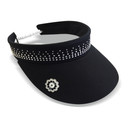 Ladies Golf Crystal Telephone wire visor with Ball Marker - Black