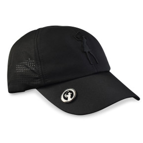 Lady Golfer Magnetic Soft Fabric Golf Cap -Black