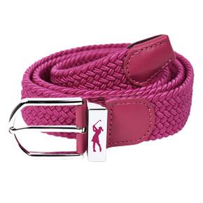 Pink Stretch Webbing Ladies Golf Belt