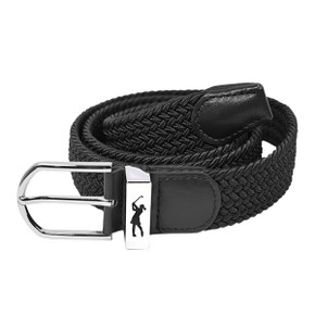 Stretch Webbing Ladies Golf Belt -Black