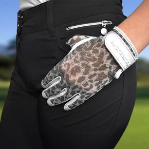 Luxury Cabretta Leather Sun Glove- Leopard