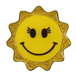 Smiley Sun Golf Ball marker