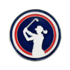 Lady Golfer Ball Marker - Navy
