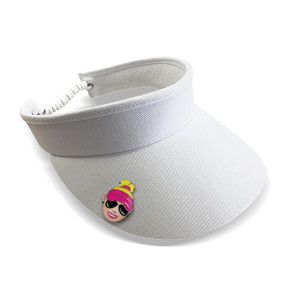 Ladies Golf Charley Hull Official Collection- Golf Visor  -White