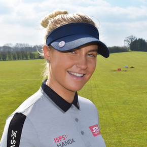 Ladies Golf Charley Hull Official Collection- Golf Visor  - Navy