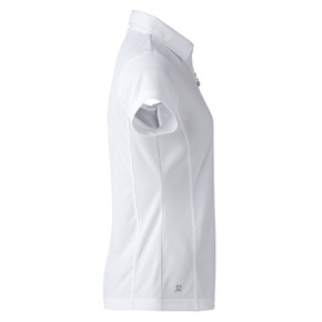 Daily Sports Cap Sleeve Polo Shirt White - Side