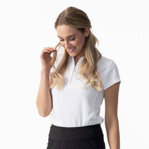 Daily Sports Cap Sleeve Polo Shirt White - Lifestyle
