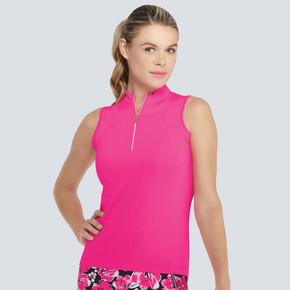 Tail Ladies Golf Ash Sleeveless Polo - Think Pink