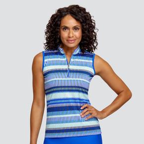 Tail Ladies Golf Adriana Sleeveless Polo - Batik-Admiral Blue