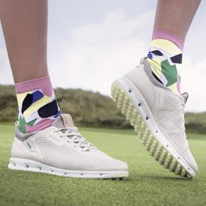 Ecco Ladies Cool Pro Waterproof Golf Shoes- Limestone