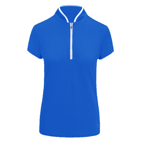 Pure Golf  Bloom Cap Sleeve Polo Shirt - Royal Blue