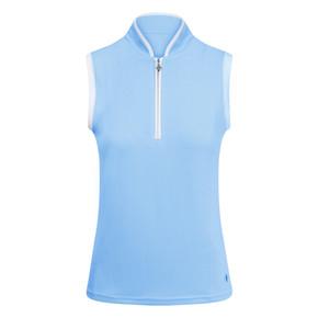 Pure Golf Bloom Ladies Sleeveless Polo Shirt - Pale Blue