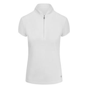 Pure Golf Bloom Ladies Cap Sleeve Polo Shirt - White