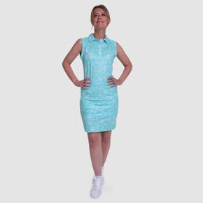 Pure Golf  Rise Sleeveless Polo Shirt - Ocean Blue