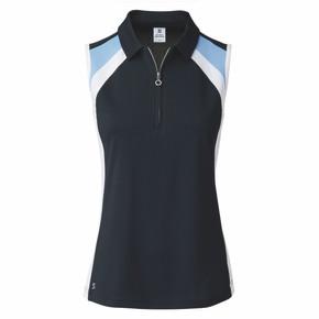 Daily Sports Ladies Roxa Sleeveless Polo - Navy