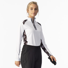 Daily Sports Ladies Ruthie Long Sleeve Polo - White