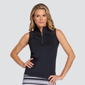 Tail Ladies Golf Leanne Sleeveless Polo - Black