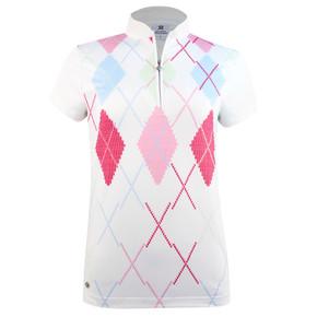 Daily Sports Aletta Cap Sleeve Polo- White