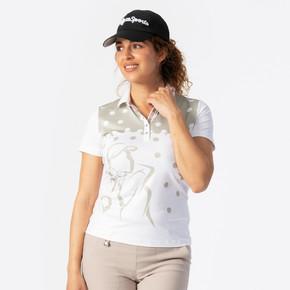 Daily Sports Aim Short Sleeve Polo- White