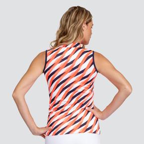 Tail Ladies Golf Adriana Sleeveless Polo - Laced Wave