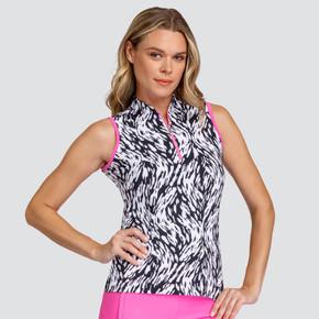 Tail Ladies Golf Mea Sleeveless Polo - Tidal