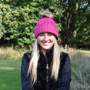 Surprizeshop Waterproof  Golf Bobble Hat - Hot Pink