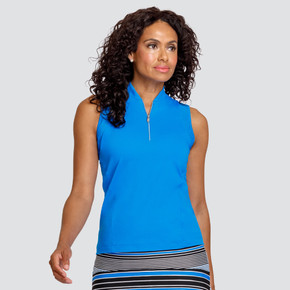 Tail Ladies Golf Cary Sleeveless Polo - Pacific