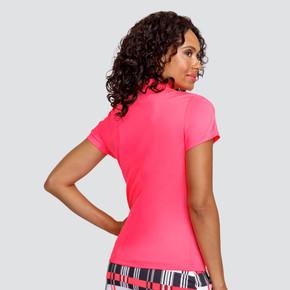 Tail Ladies Golf Lylah Short Sleeve Polo - Warm Peach