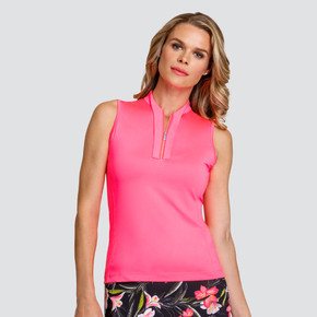 Tail Ladies Golf Tilly Sleeveless Polo - Warm Peach