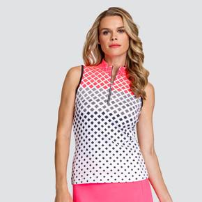 Tail Ladies Golf Fannie Sleeveless Polo - Diamonte