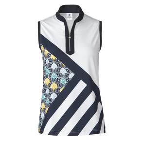 Daily Sports Fia Sleeveless Polo Shirt White - Front