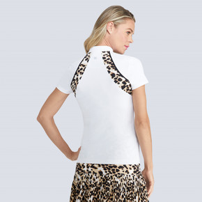 Tail Ladies Golf Carrie Short Sleeve Polo - White