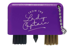 From The Lady Captain 3 in 1 Golf Club Cleaner -Purple
