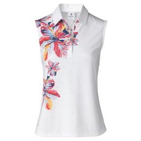 Daily Sports Nance Sleeveless Polo Shirt White - Front