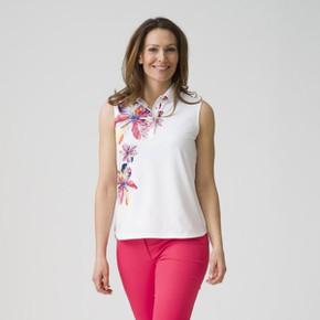 Daily Sports Nance Sleeveless Polo Shirt White - Lifestyle